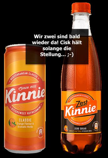 Kinnie Classic und Kinnie Zest: Ausverkauft - Nachschub unterwegs!